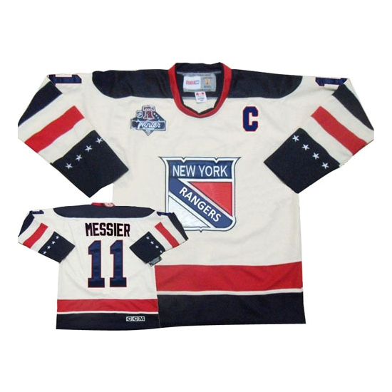 57997a2f3 Reebok EDGE Mark Messier New York Rangers Authentic 2012 Winter Classic  Jersey - White