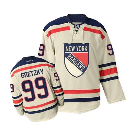 Reebok EDGE Wayne Gretzky New York Rangers Authentic 2012 Winter Classic  Jersey - Cream ad1d76f3c58