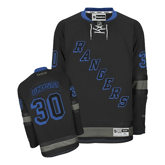 f4adaf57a13 ... Reebok Henrik Lundqvist New York Rangers Premier Jersey - Black Ice ...