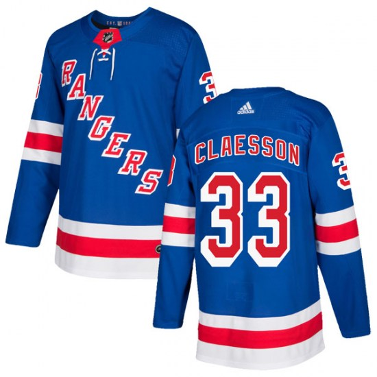 Adidas Fredrik Claesson New York Rangers Authentic Home Jersey - Royal Blue