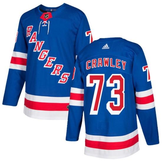 Adidas Brandon Crawley New York Rangers Authentic Home Jersey - Royal Blue
