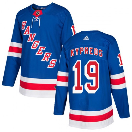 Adidas Nick Kypreos New York Rangers Authentic Home Jersey - Royal Blue