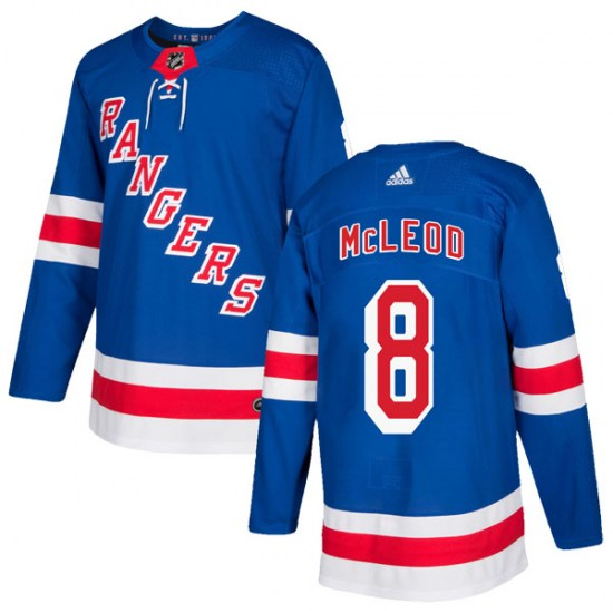 Adidas Cody McLeod New York Rangers Authentic Home Jersey - Royal Blue