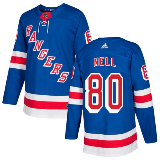 Adidas Chris Nell New York Rangers Authentic Home Jersey - Royal Blue