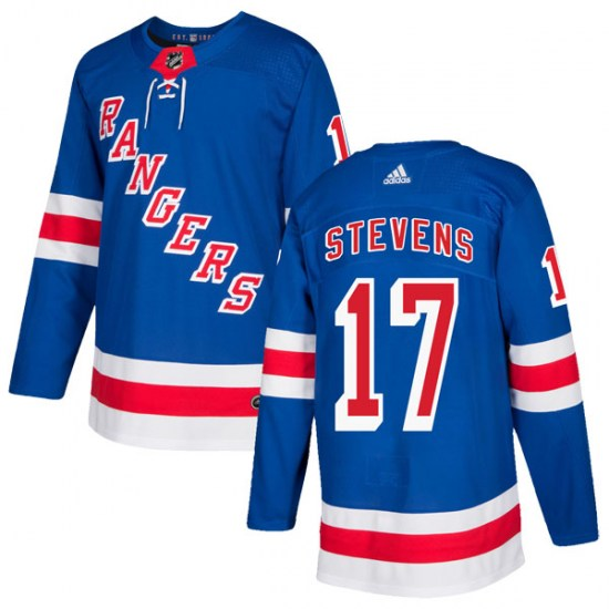 Adidas Kevin Stevens New York Rangers Authentic Home Jersey - Royal Blue