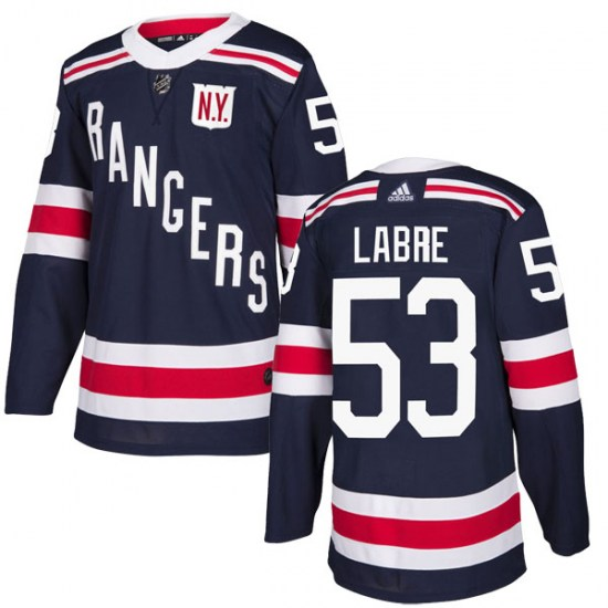 Adidas Hubert Labrie New York Rangers Authentic 2018 Winter Classic Home Jersey - Navy Blue