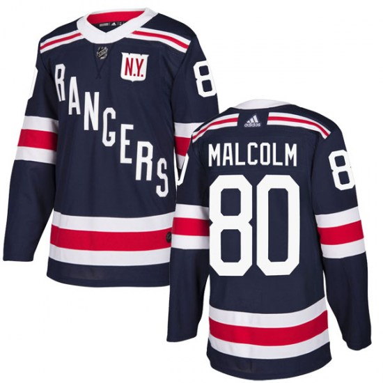 Adidas Jeff Malcolm New York Rangers Authentic 2018 Winter Classic Home Jersey - Navy Blue