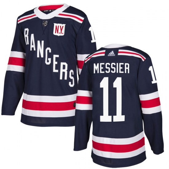 Adidas Mark Messier New York Rangers Authentic 2018 Winter Classic Home Jersey - Navy Blue