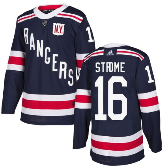 Adidas Ryan Strome New York Rangers Authentic 2018 Winter Classic Home Jersey - Navy Blue