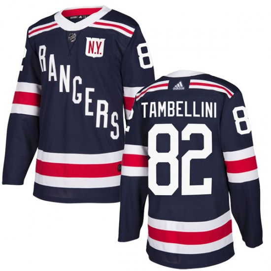 Adidas Adam Tambellini New York Rangers Authentic 2018 Winter Classic Home Jersey - Navy Blue