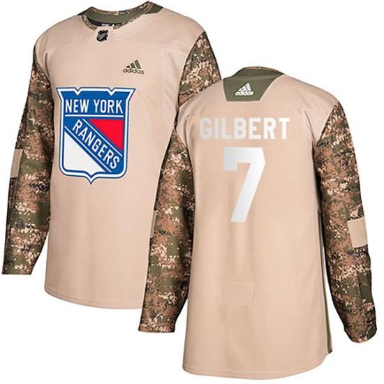 Adidas Rod Gilbert New York Rangers Authentic Veterans Day Practice Jersey - Camo