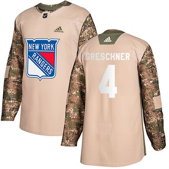Adidas Ron Greschner New York Rangers Authentic Veterans Day Practice Jersey - Camo