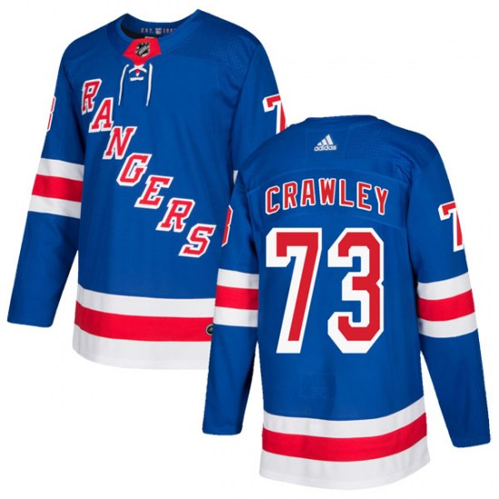 Adidas Brandon Crawley New York Rangers Youth Authentic Home Jersey - Royal Blue