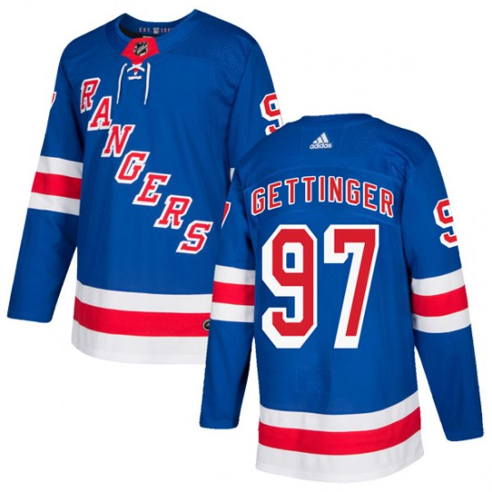 Adidas Timothy Gettinger New York Rangers Youth Authentic Home Jersey - Royal Blue