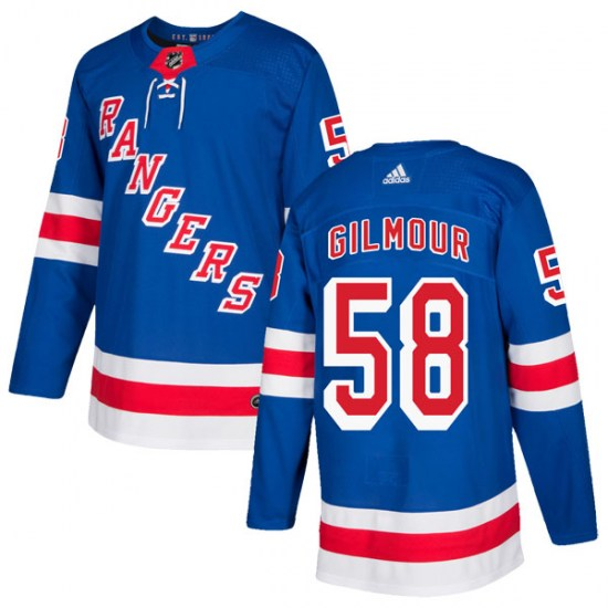Adidas John Gilmour New York Rangers Youth Authentic Home Jersey - Royal Blue