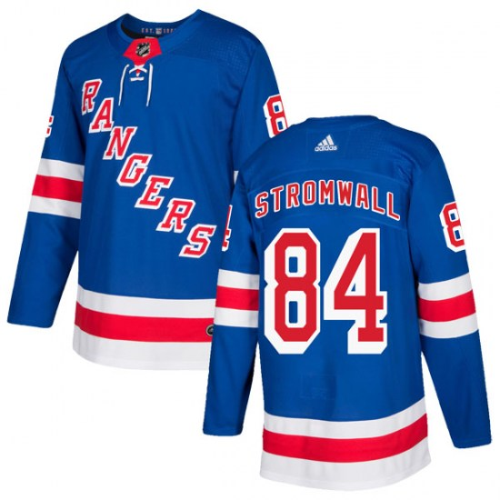Adidas Malte Stromwall New York Rangers Youth Authentic Home Jersey - Royal Blue