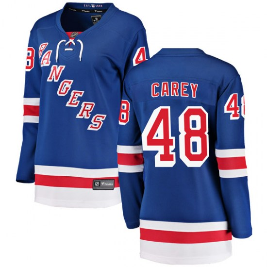 Fanatics Branded Matt Carey New York Rangers Women's Breakaway Home Jersey - Blue