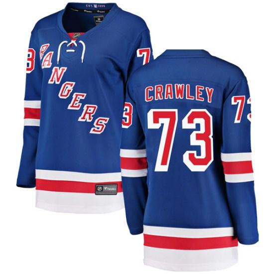 Fanatics Branded Brandon Crawley New York Rangers Women's Breakaway Home Jersey - Blue