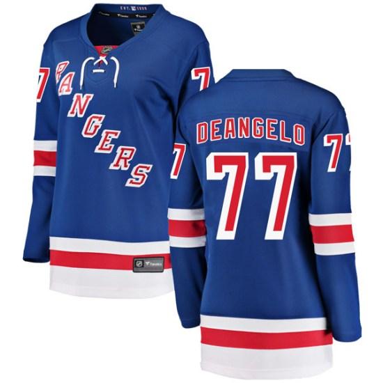 Fanatics Branded Tony DeAngelo New York Rangers Women's Breakaway Home Jersey - Blue