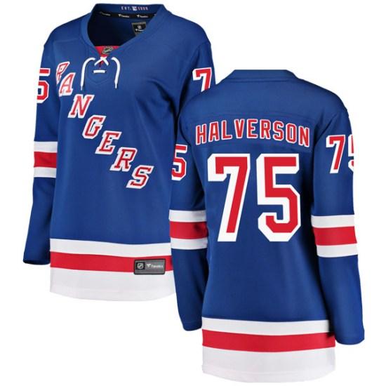 Fanatics Branded Brandon Halverson New York Rangers Women's Breakaway Home Jersey - Blue