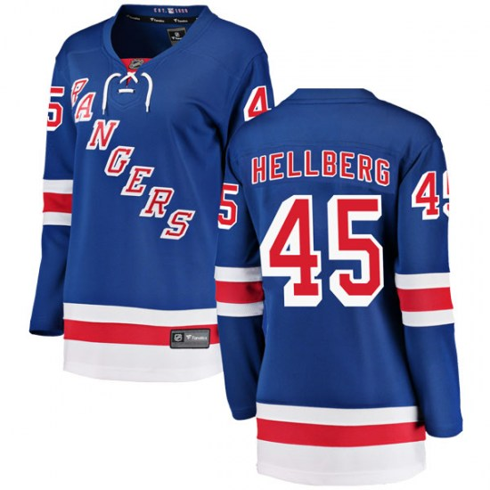 Fanatics Branded Magnus Hellberg New York Rangers Women's Breakaway Home Jersey - Blue