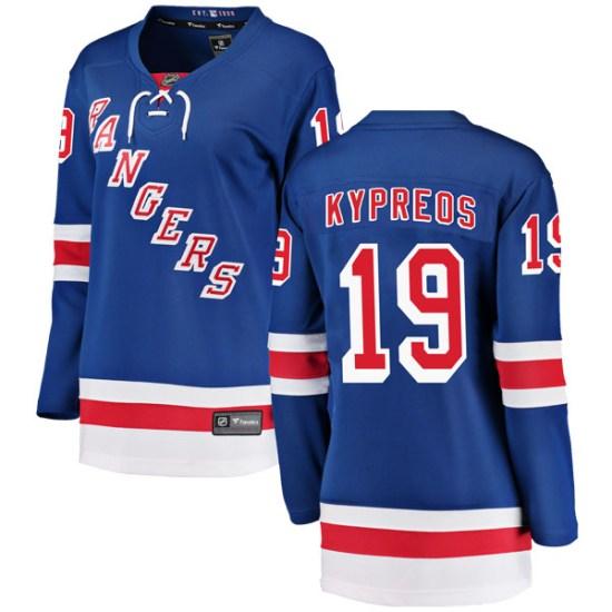 Fanatics Branded Nick Kypreos New York Rangers Women's Breakaway Home Jersey - Blue
