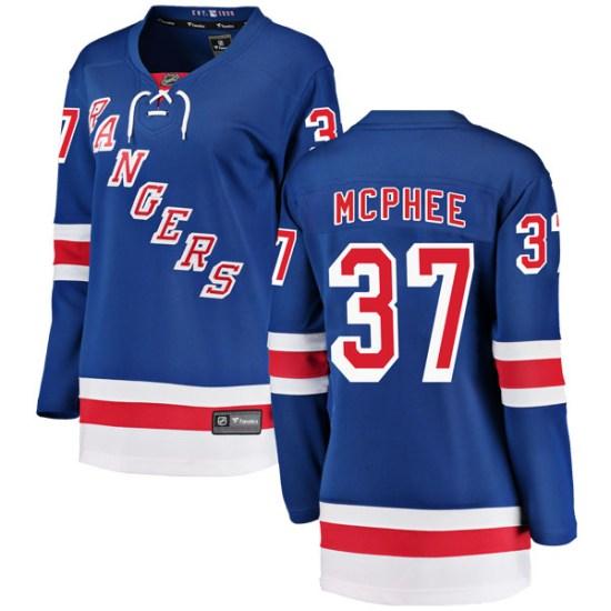 Fanatics Branded George Mcphee New York Rangers Women's Breakaway Home Jersey - Blue