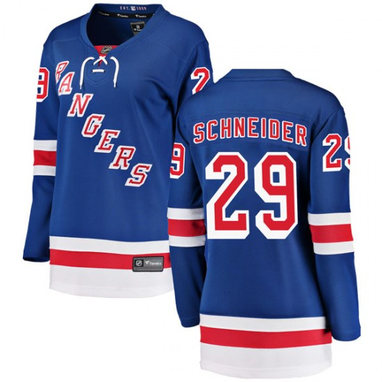 Fanatics Branded Cole Schneider New York Rangers Women's Breakaway Home Jersey - Blue