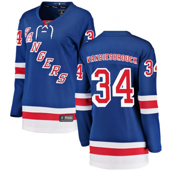 Fanatics Branded John Vanbiesbrouck New York Rangers Women's Breakaway Home Jersey - Blue
