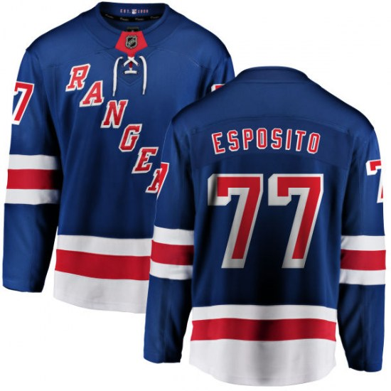 Fanatics Branded Phil Esposito New York Rangers Home Breakaway Jersey - Blue