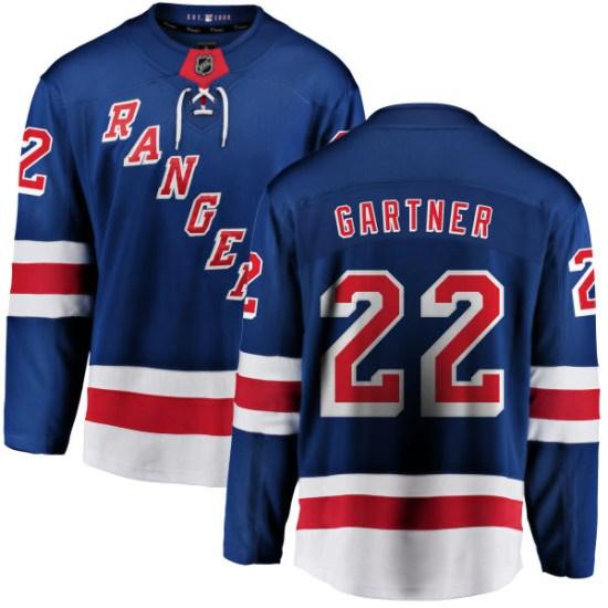 Fanatics Branded Mike Gartner New York Rangers Youth Home Breakaway Jersey - Blue