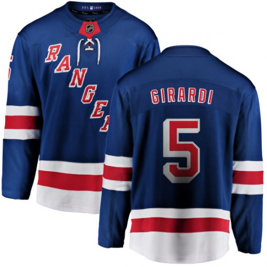 Fanatics Branded Dan Girardi New York Rangers Youth Home Breakaway Jersey - Blue