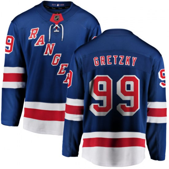 Fanatics Branded Wayne Gretzky New York Rangers Youth Home Breakaway Jersey - Blue