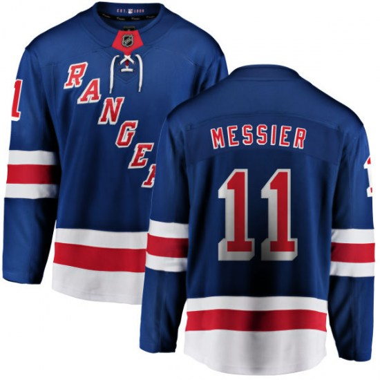 Fanatics Branded Mark Messier New York Rangers Youth Home Breakaway Jersey - Blue