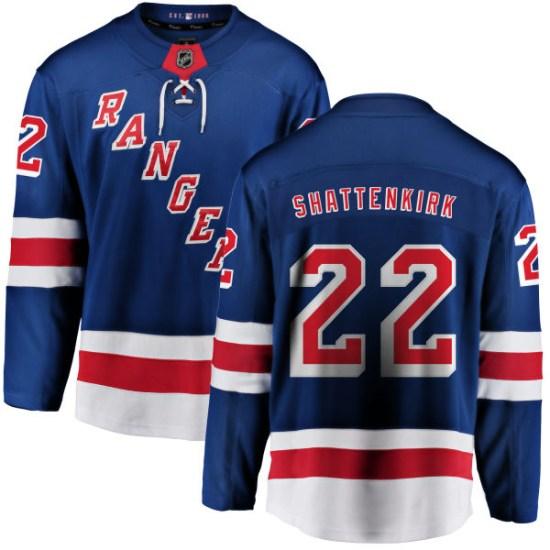 Fanatics Branded Kevin Shattenkirk New York Rangers Youth Home Breakaway Jersey - Blue