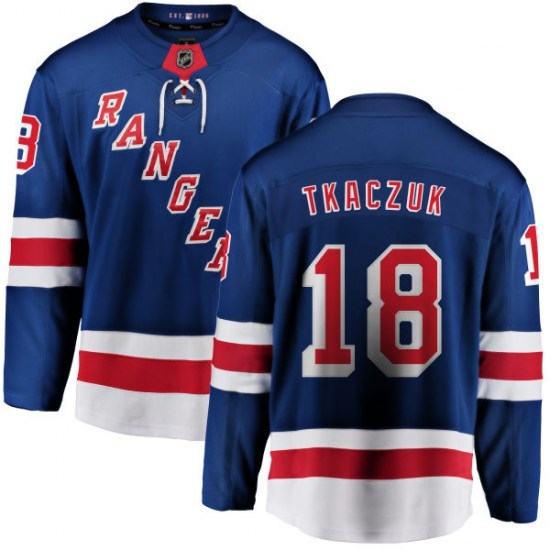 Fanatics Branded Walt Tkaczuk New York Rangers Youth Home Breakaway Jersey - Blue