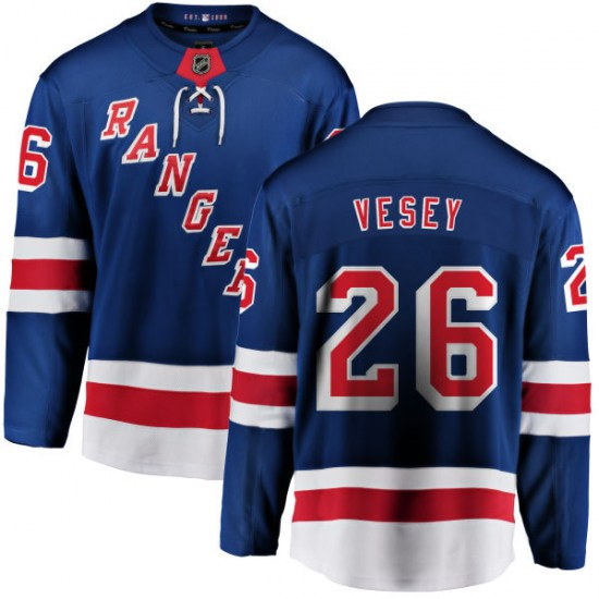 Fanatics Branded Jimmy Vesey New York Rangers Youth Home Breakaway Jersey - Blue