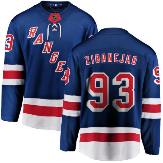 Fanatics Branded Mika Zibanejad New York Rangers Youth Home Breakaway Jersey - Blue