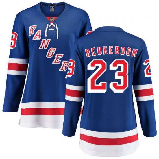 Fanatics Branded Jeff Beukeboom New York Rangers Women's Home Breakaway Jersey - Blue