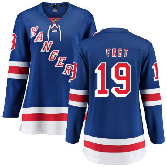 Fanatics Branded Jesper Fast New York Rangers Women's Home Breakaway Jersey - Blue