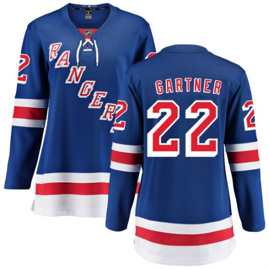Fanatics Branded Mike Gartner New York Rangers Women's Home Breakaway Jersey - Blue