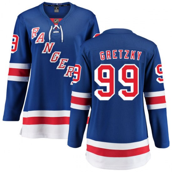 Fanatics Branded Wayne Gretzky New York Rangers Women's Home Breakaway Jersey - Blue