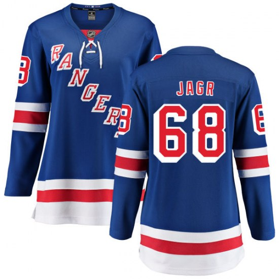 Fanatics Branded Jaromir Jagr New York Rangers Women's Home Breakaway Jersey - Blue