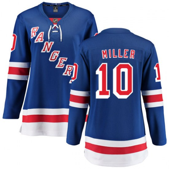 Fanatics Branded J.T. Miller New York Rangers Women's Home Breakaway Jersey - Blue