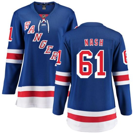 Fanatics Branded Rick Nash New York Rangers Women's Home Breakaway Jersey - Blue
