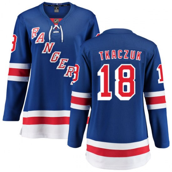Fanatics Branded Walt Tkaczuk New York Rangers Women's Home Breakaway Jersey - Blue