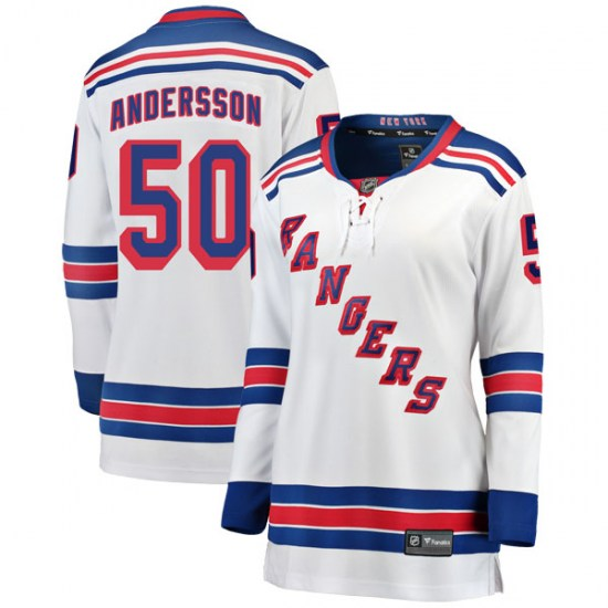 Fanatics Branded Lias Andersson New York Rangers Women's Breakaway Away Jersey - White