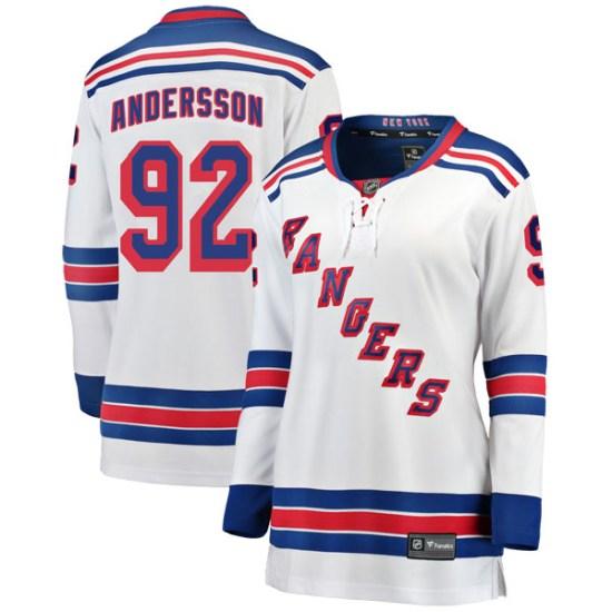 Fanatics Branded Calle Andersson New York Rangers Women's Breakaway Away Jersey - White