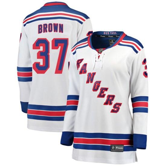 Fanatics Branded Chris Brown New York Rangers Women's Breakaway Away Jersey - White