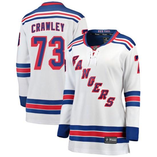 Fanatics Branded Brandon Crawley New York Rangers Women's Breakaway Away Jersey - White